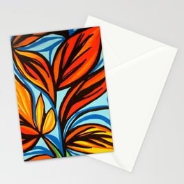 Falling leaves Stationery Cards