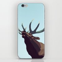 elk iPhone & iPod Skins featuring Elk by Of Newts and Nerds