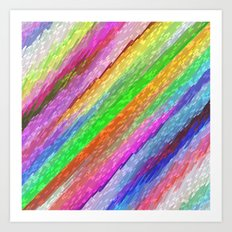 Colorful digital art splashing G479 Art Print