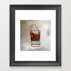Octo Whisky Glass Framed Art Print