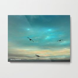 Fractlandia Beach Sunrise Metal Print