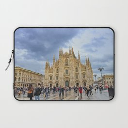 Busy Piazza Duomo Laptop Sleeve