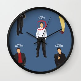 The Usual Suspects, Kevin Spacey, minimalist movie poster, Gabriel Byrne, Singer, Benicio Del Toro, Wall Clock