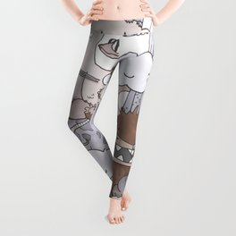 Grey Monster Gang Leggings