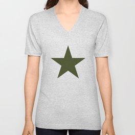 Vintage U.S. Military Star Unisex V-Neck