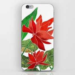 Red Lotus Illustration iPhone Skin
