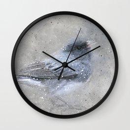 Dark Eyed Junco Bird Wall Clock