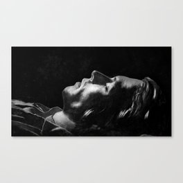 Do you have a dream? - Vintage black and white Canvas Print