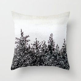 That Yellow House on Moon River Throw Pillow