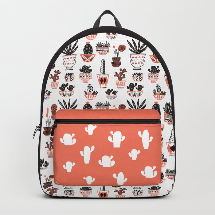Mid-Century Modern Cacti Backpack