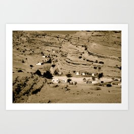 Desert village Art Print