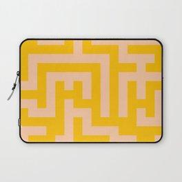 Deep Peach Orange and Amber Orange Labyrinth Laptop Sleeve