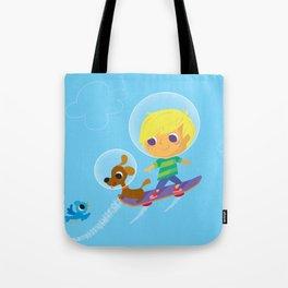 hover boarding future boy Tote Bag