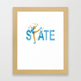 Cute Ice-skating SKATE  for Ice-skaters Framed Art Print