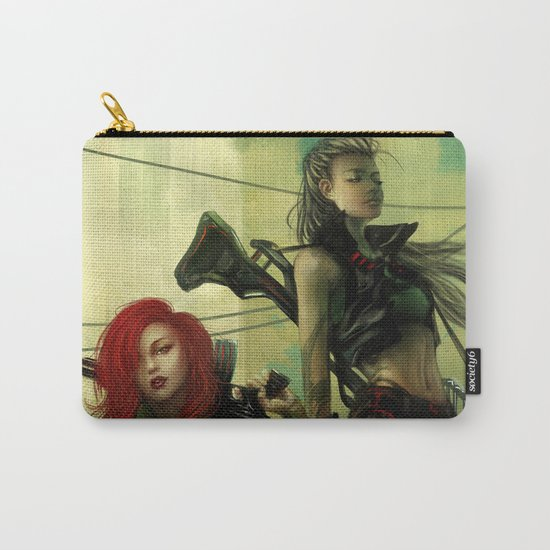 Hot pepper - Sci-fi soldier girls with weapons Carry-All Pouch