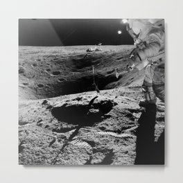 Apollo 16 - Moon Astronaut Crater Metal Print