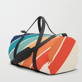 Karanda - 70s Style Classic Retro Stripes Duffle Bag