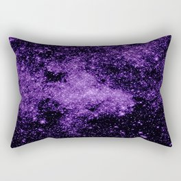 gaLaxy. Dark Purple Stars Rectangular Pillow