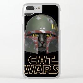 Boba Cat Wars Clear iPhone Case