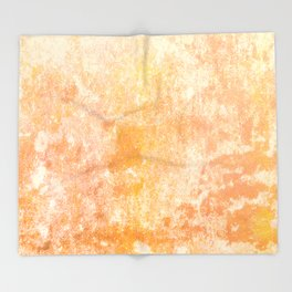 Marbling structur in warm orange tones Throw Blanket