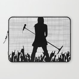 Girl With Microphone Laptop Sleeve
