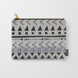 Gray Lines Carry-All Pouch