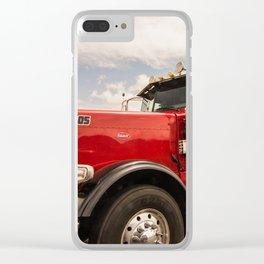 Red truck California Clear iPhone Case