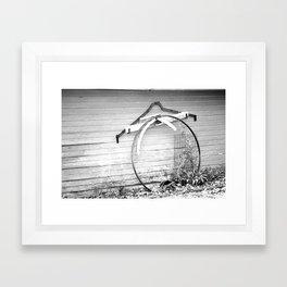 Old Farm Equipment Framed Art Print