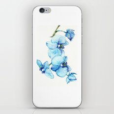 Blue Orchids - Watercolor iPhone Skin