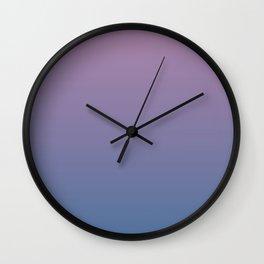 Gradient Dawn Pink Purple Blue Wall Clock