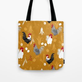Rooster Roundup Tote Bag