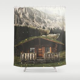 Sheep on the roof Shower Curtain