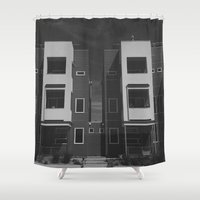 denver Shower Curtains featuring highlands denver by fat dominic