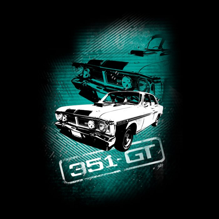 Ford Falcon Xy Gtho Phase Iii Grunge Duvet Cover