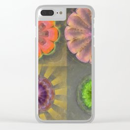 Aetiogenic Actuality Flower  ID:16165-013140-25800 Clear iPhone Case