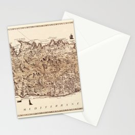 Map Of Corsica 1771 Stationery Cards