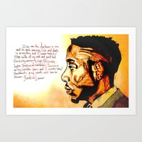 kendrick lamar Art Prints featuring Kendrick Lamar by Monroe the artist