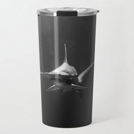 Hammerhead Shark (Black and White) Travel Mug
