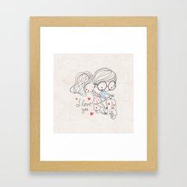Couple Love Framed Art Print