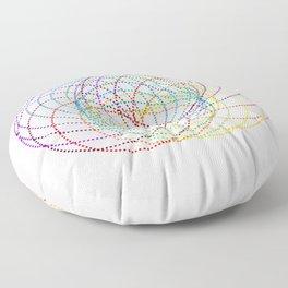Rainbow Slinky Floor Pillow