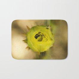 Englemann's Prickly Pear With A Hiding Bee Bath Mat