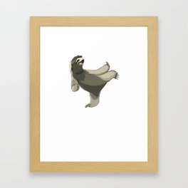 This karate sloth design is the perfect gift for martial artists who loves Taekwondo or Kung Fu Framed Art Print