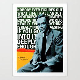 Richard Feynman Quote 1 Art Print