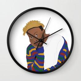 kevin 'genius' abstract Wall Clock