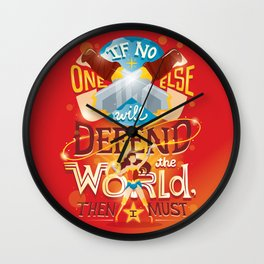 Defend the world Wall Clock