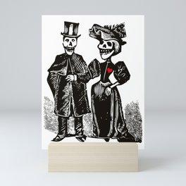 Calavera Couple   Skeleton Couple   Calaveras   Vintage Couple   Victorian Gothic   Mini Art Print