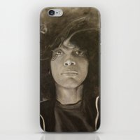erykah badu iPhone & iPod Skins featuring Erykah Badu in Charcoal by GileOne