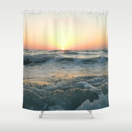 Sunsetting into Sea Shower Curtain