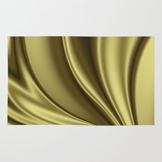 Abstract Fractal Colorways 02 Simple Gold Rug