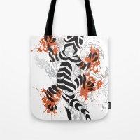 lizard Tote Bags featuring Lizard by Sitchko Igor